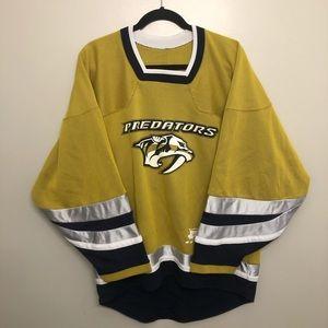 CCM Nashville Predators Mustard Hockey Jersey